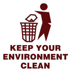 keep enviroment clean logo