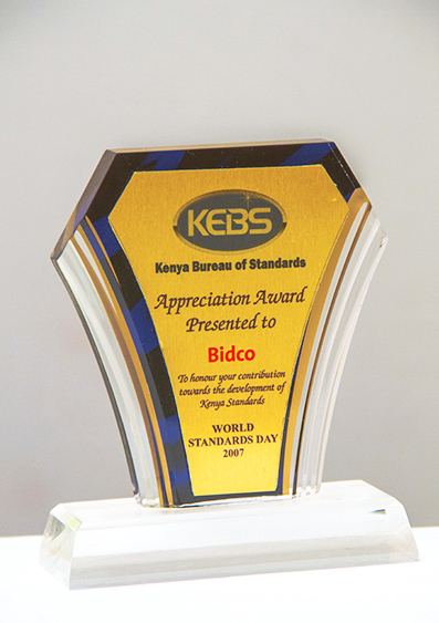 Kenya Bureau of Standards Appreciation Awards