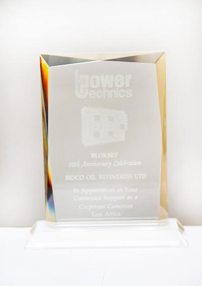 Power Techniques 10th Anniversary Appreciation Award