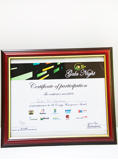 Certficate of Recognition
