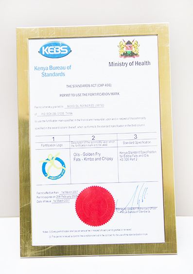 Certficate of Recognition Ministry Of Public Health & Sanitation