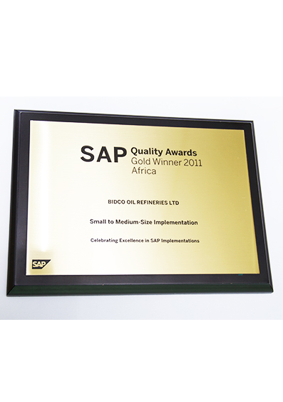 GOLD Winner  SAP Quality Awards (Small To Medium Size Implementation) 2011