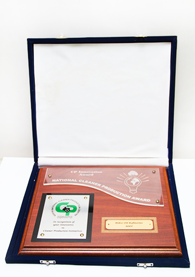 NATIONAL CLEANER PRODUCTION AWARD 2007