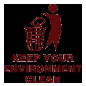 keep enviroment clean logo